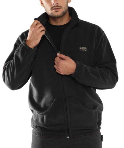 ανδρική ζακέτα fleece μαύρη