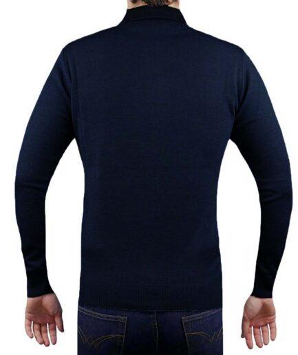 Ανδρικό πουλόβερ γιακά κουμπί
