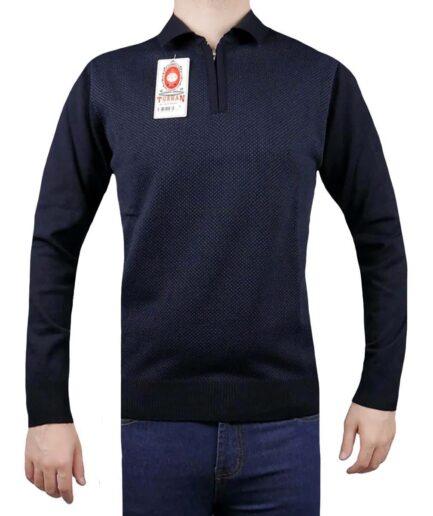 Ανδρικό πουλόβερ γιακά φερμουάρ