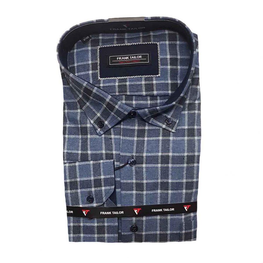 Ανδρικό πουκάμισο φανέλα καρό big size